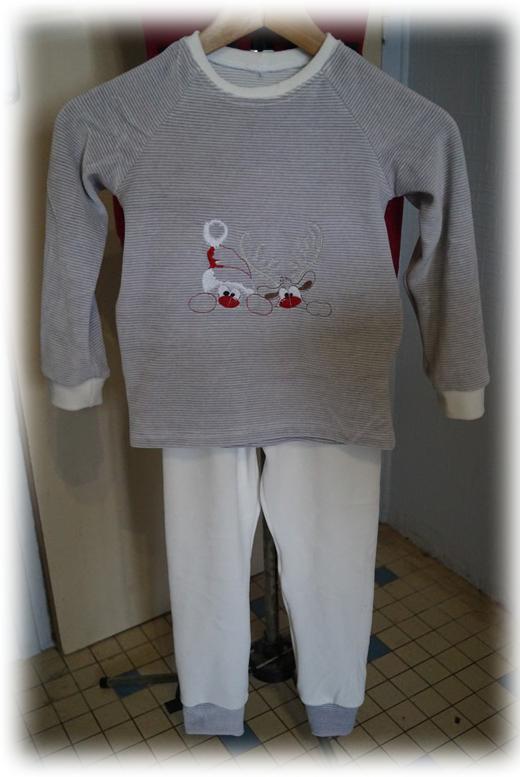 Pyjama Noël Père Noël coucou 6a