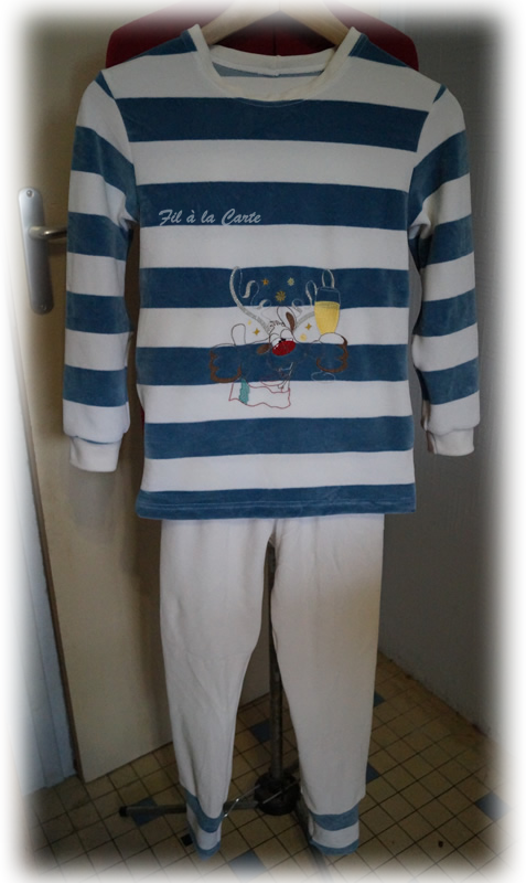Pyjama Noël Renne verre 9 ans
