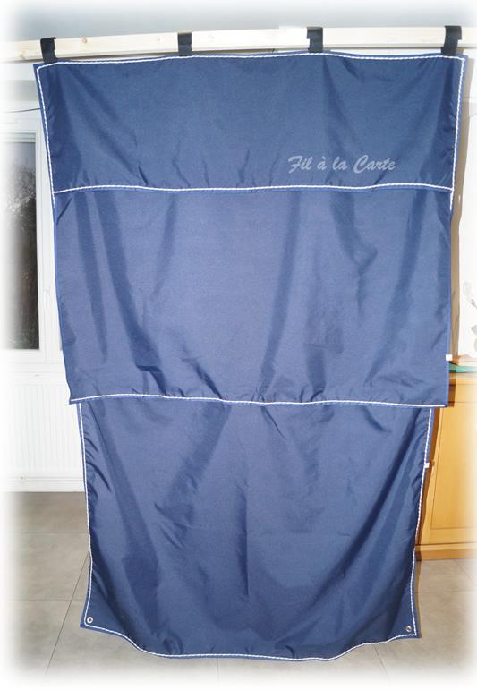 Tenture box moustiquaire bleu marine