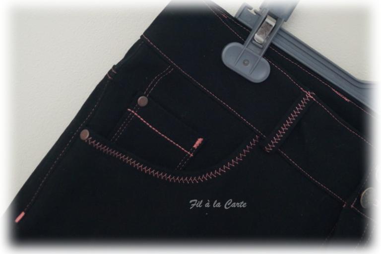 Jeans noir corail3