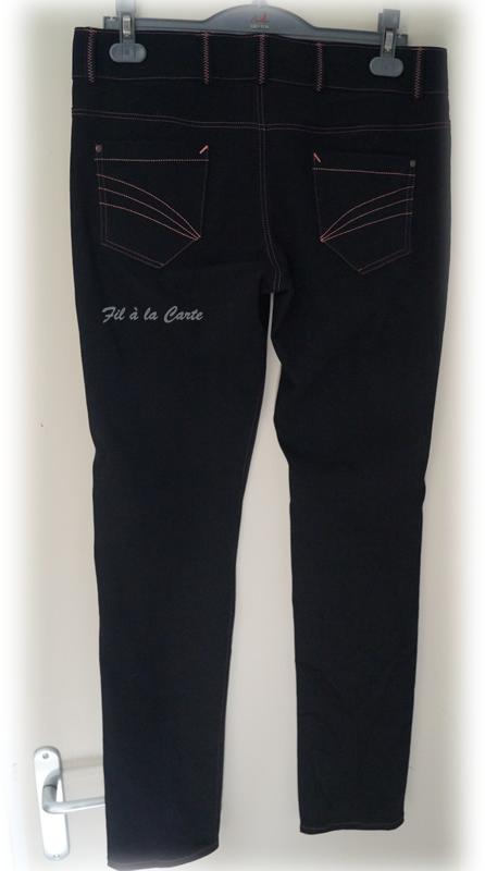 Jeans noir corail4