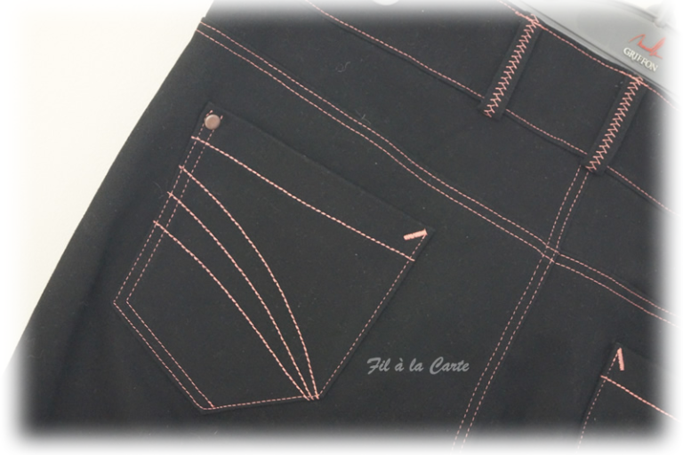 Jeans noir corail5