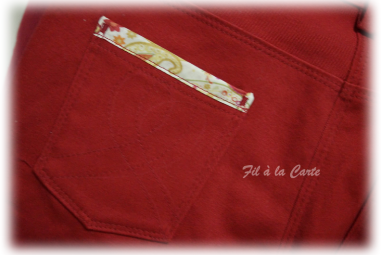 Jeans rouge 6a+4