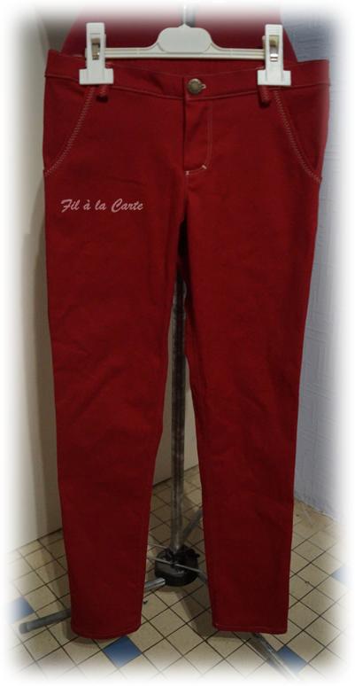 Jeans rouge 9ans+