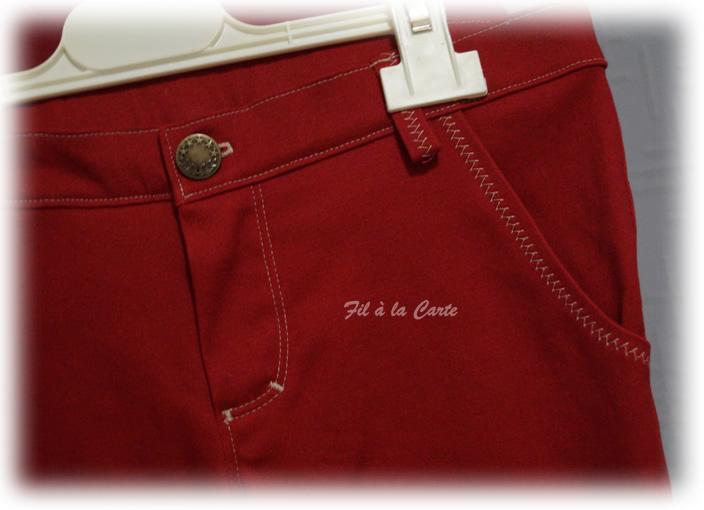 Jeans rouge 9ans+2