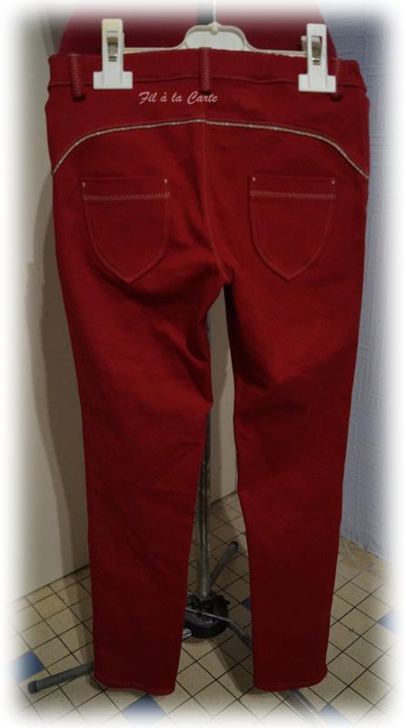 Jeans rouge 9ans+3