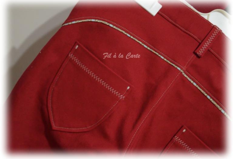Jeans rouge 9ans+4