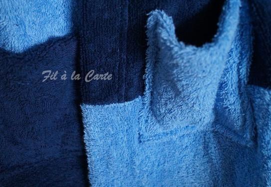 Peignoir bain bleu 6a2