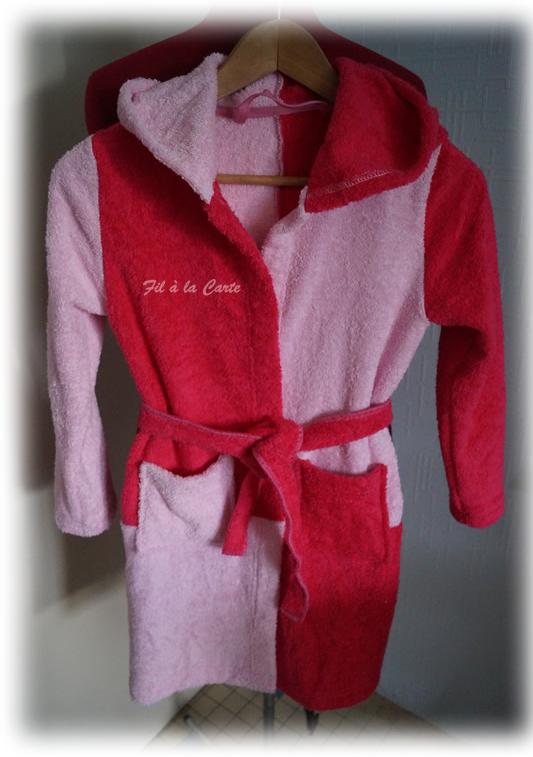 Peignoir bain rose 10a