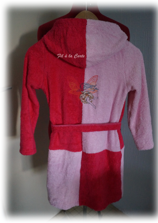 Peignoir bain rose 10a4