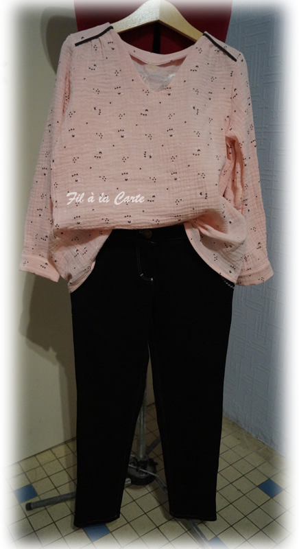 Tenue jeans tunique passepoil 6a