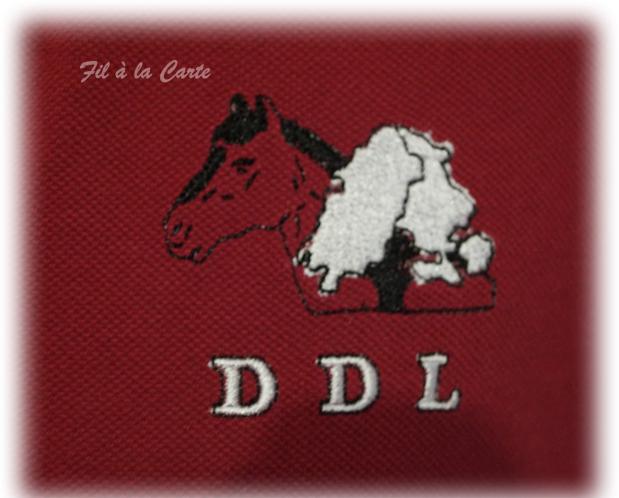 Polo brodeaux DDL2