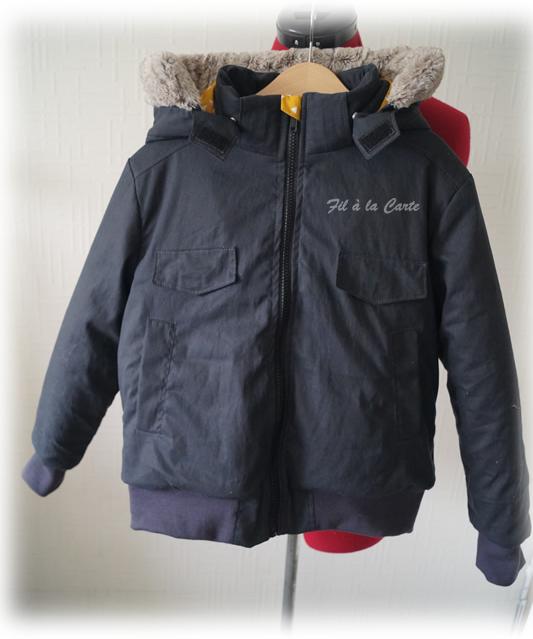 Manteau hiver gris 10a