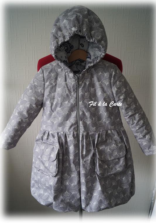 Manteau hiver gris gincko 7a