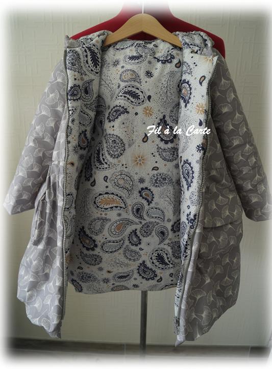 Manteau hiver gris gincko 7a6