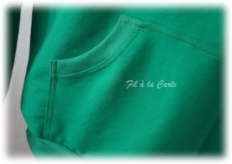 Sweat vert flexé homme2