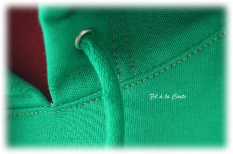 Sweat vert flexé homme4