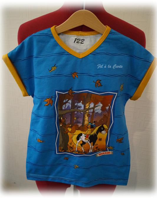 Tee shirt Yakari bleu7a