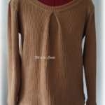 Pull tricot camel