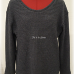 Pull tricot gris