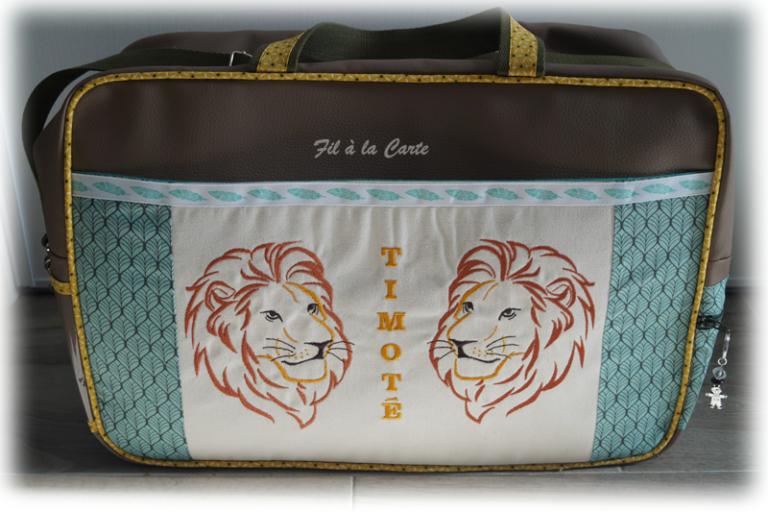 Sac voyage trousse lions2