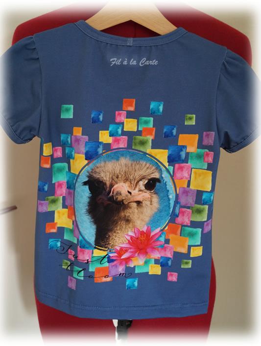 Tee shirt profils animaux 122 cm4