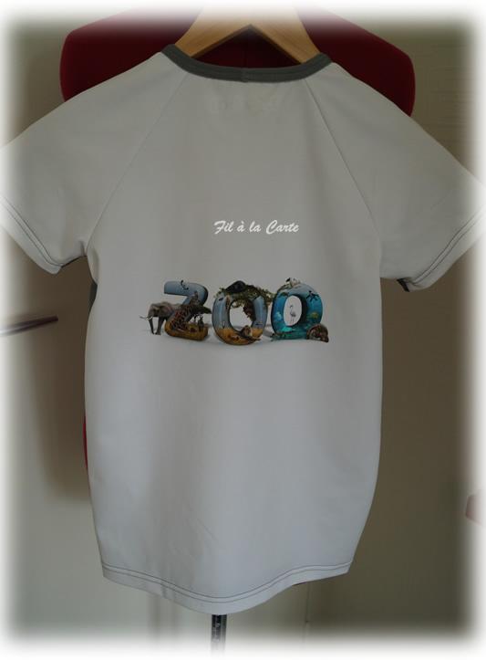 Tee shirt zoo 140 cm3