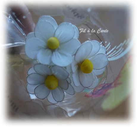 Fleurs blanches collant